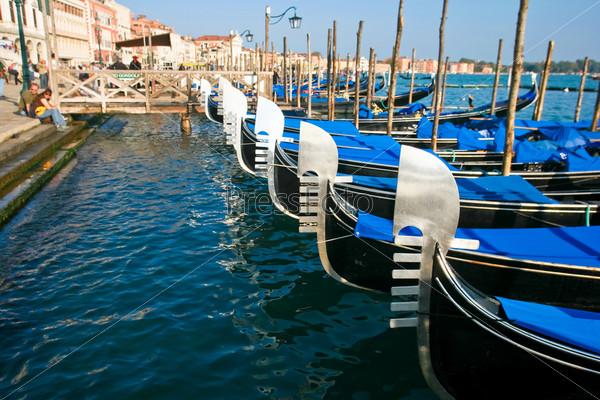 Фотография на тему Гондолы в Венеции