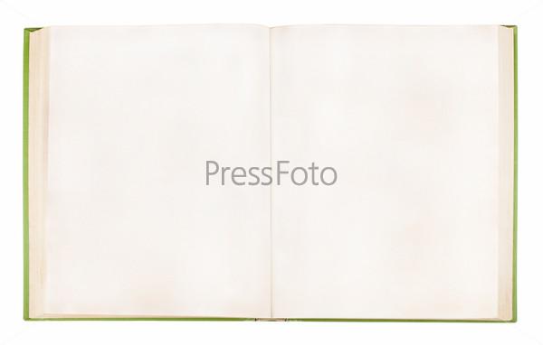 Старая открытая книга с пустыми страницами