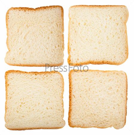 Коллекция ломтиков хлеба