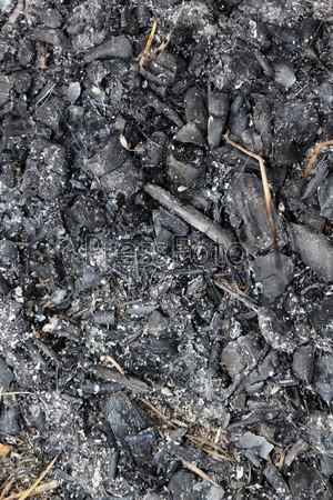 Уголь. Погасший костер