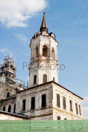 Старая церковь в Тобольске. Россия