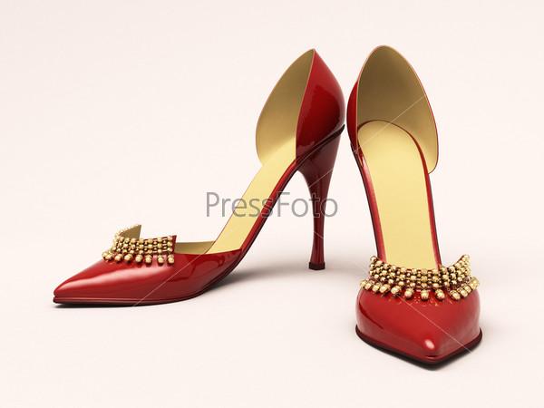 Фотография на тему Красные женские туфли