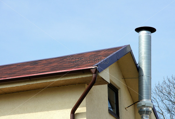 Дымоход и крыша