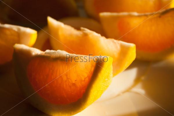 Фотография на тему Грейпфрут на тарелке