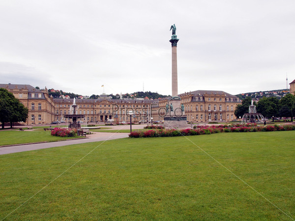 Фотография на тему Шлоссплатц (Замковая площадь) в Штутгарте, Германия