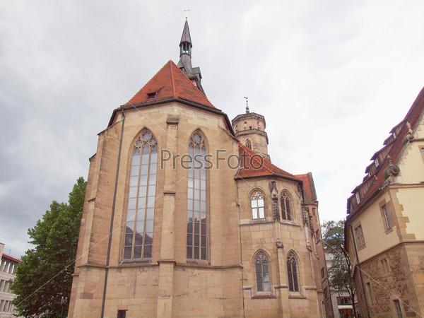 Церковь Стифтскирхе на Площади Шиллера, Штутгарт, Германия