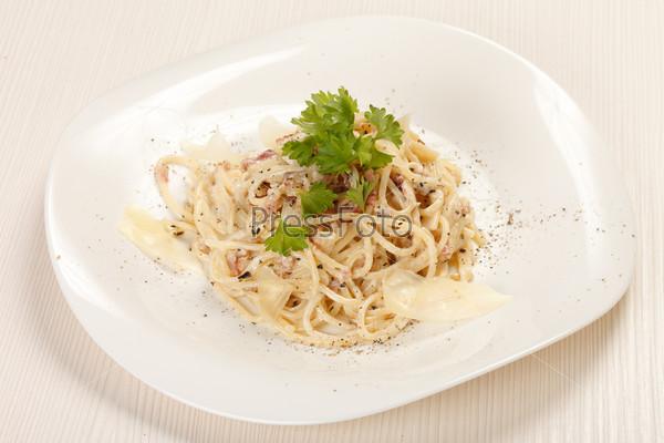 Фотография на тему Спагетти карбонара