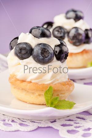 Свежие фруктовые кексы