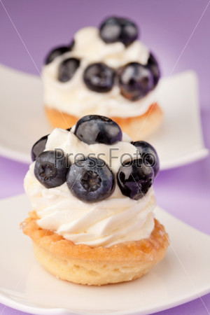 Свежее фруктовое пирожное
