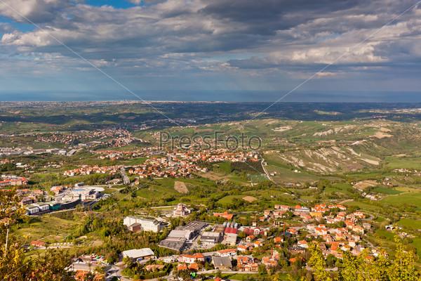 Вид с горы Титано, Сан-Марино