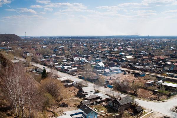 Старая часть города Тобольск, Россия