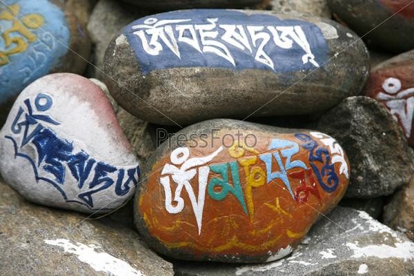 Фотография на тему Тибетские молитвенные камни мани