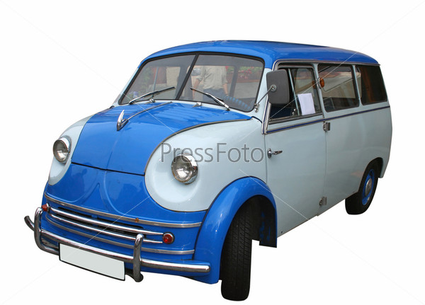 Синий старый автомобиль