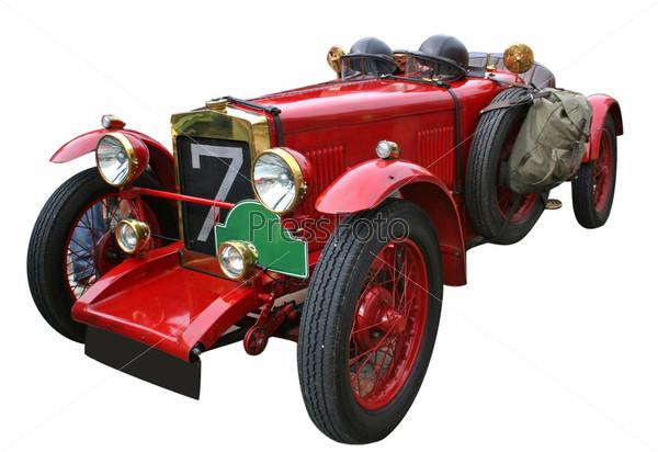 Красный старый автомобиль