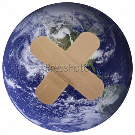 Лейкопластырь на Земном шаре