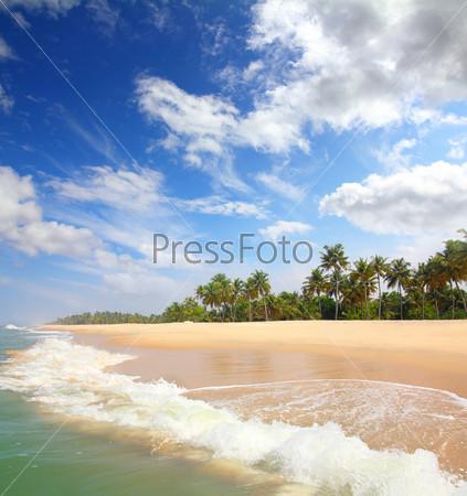 Красивый пляж, пейзаж