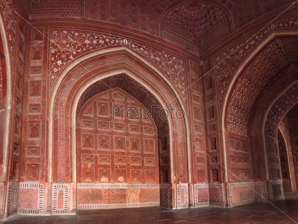 Фотография на тему Стены мавзолея Тадж Махал
