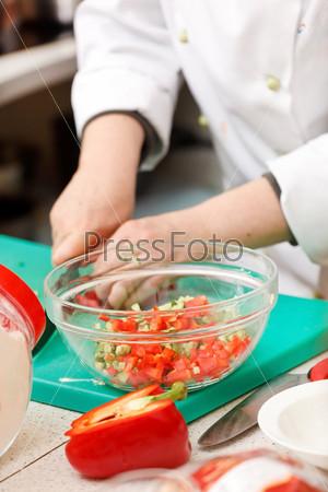 Шеф-повар на работе