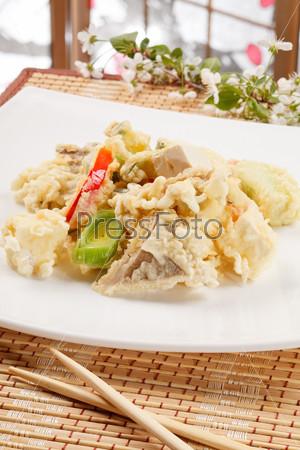 Тэмпура, японская еда