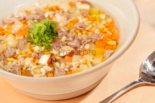 Фотография на тему Суп с мясом