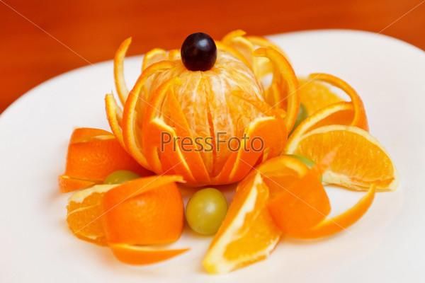 Свежий мандарин