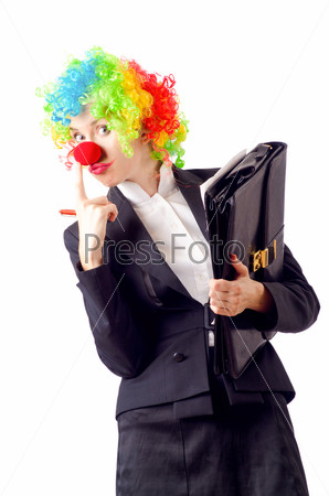 Клоунесса в деловом костюме