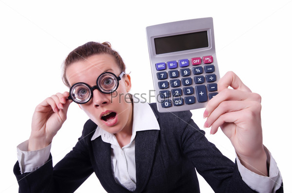 Фотография на тему Бухгалтер с калькулятором