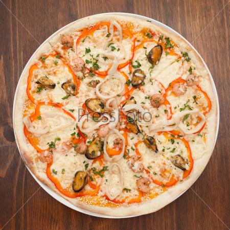 Фотография на тему Пицца с морепродуктами