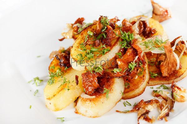 Фотография на тему Картофель с грибами