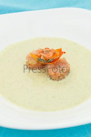 Фотография на тему Крем-суп с лососем