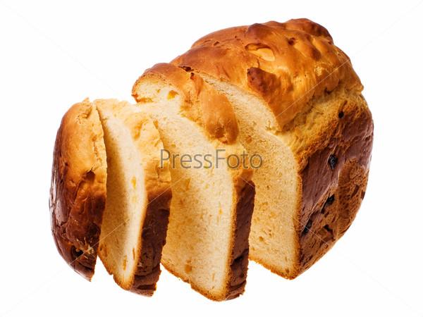 Домашний хлеб на белом фоне