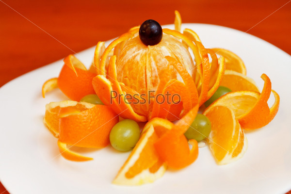 Фотография на тему Свежий мандарин