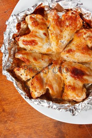 Фотография на тему Куриные крылышки с соусом