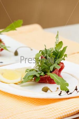 Фотография на тему Карпаччо из мяса