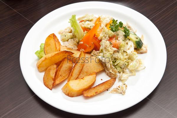 Фотография на тему Жареный картофель с овощами