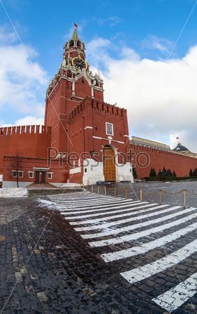 Спасская башня Московского Кремля. Рыбий глаз