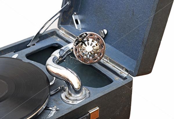 Старый граммофон для воспроизведения музыки