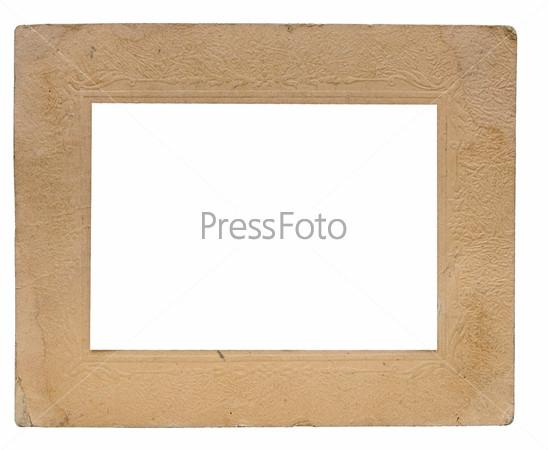 Винтажная бумажная рамка с декоративной каймой