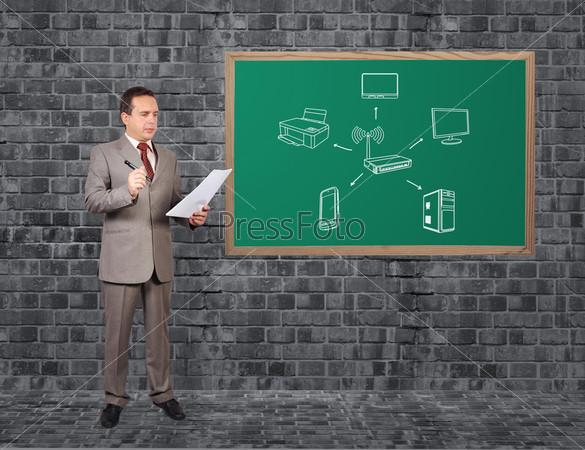 Компьютерная сеть на доске