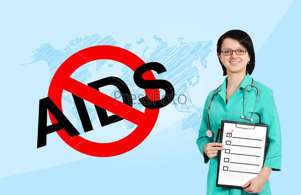Фотография на тему Остановите СПИД, знак