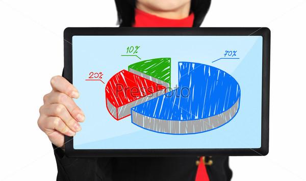 Фотография на тему Планшет с диаграммой