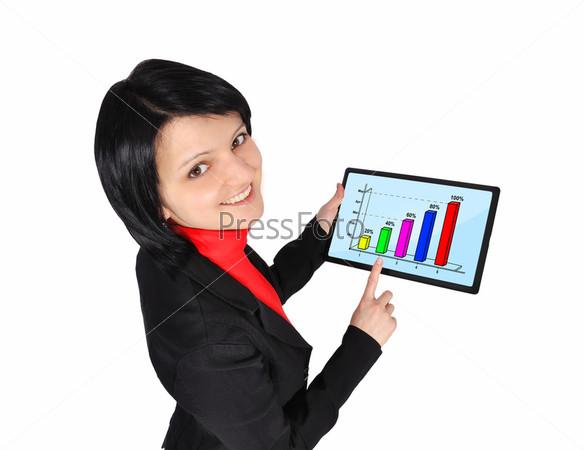 Фотография на тему График на экране