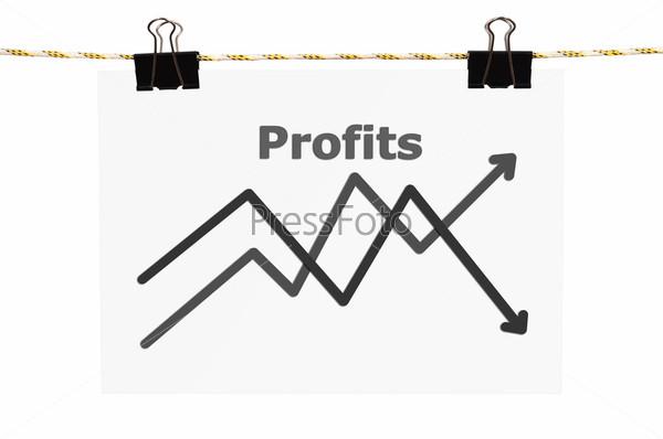 Плакат с графиком прибыли