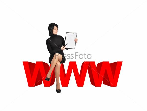Женщина и планшет