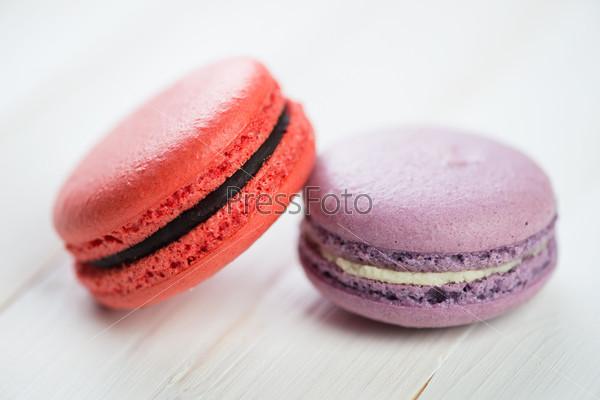 Фотография на тему Два французских миндальных печенья