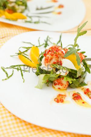 Фотография на тему Летний салат с креветками