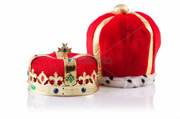 Фотография на тему Королевские короны, изолированные на белом