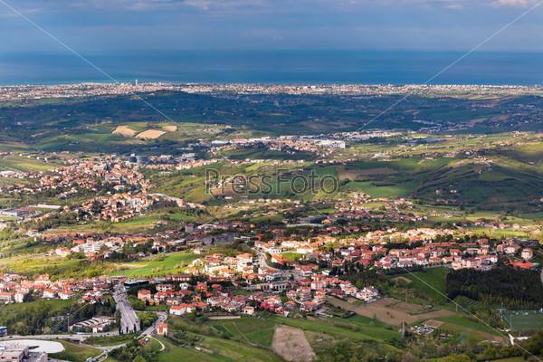 Вид с горы Титано, окрестности Сан-Марино