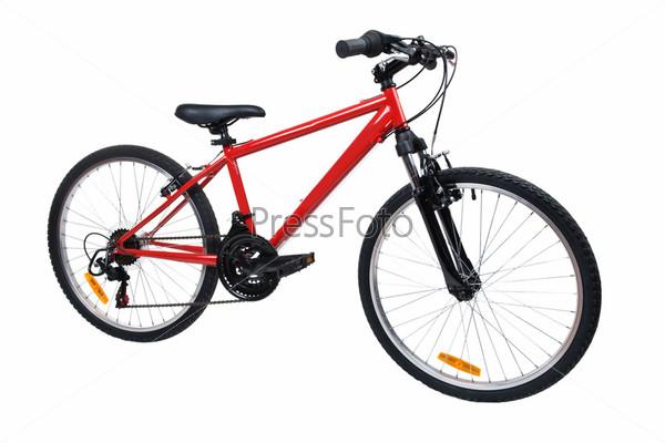 Фотография на тему Велосипед на белом фоне
