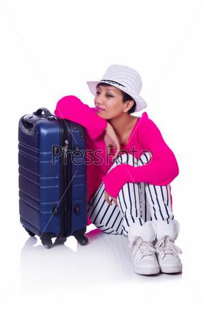 Фотография на тему Женщина готовится к летним каникулам